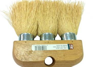 6 in. 3-Knot White Pro Roof Brush