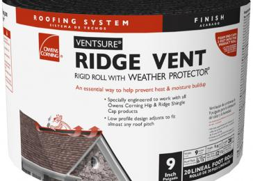 Owens Corning VentSure 9-in x 240-in Black Plastic Roll Roof Ridge Vent