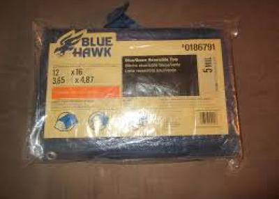 Blue Hawk 12-ft x 16-ft Polyethylene Tarp