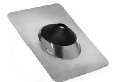 Galvanized No-Calk Flashing 3-in To 4-in x 15.5-in Galvanized Steel Vent and Pipe Flashing