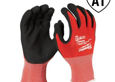 Large Red Nitrile Cut Level 1 Dipped Work Gloves (6-Pack)