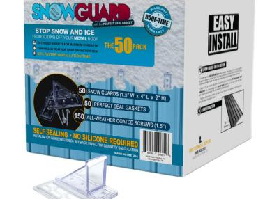 Snow Guard UV Clear 1.5 in. Mini Snow Guard with Perfect Seal Gasket and Mounting Screws (50 Pack)