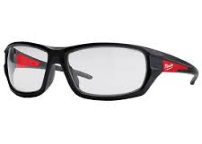 Milwaukee performance safety glasses with clear lenses
